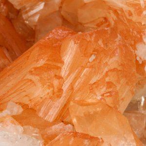 Stilbite, Orange on Apophyllite