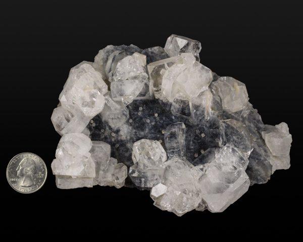 Apophyllite on Chalcedony