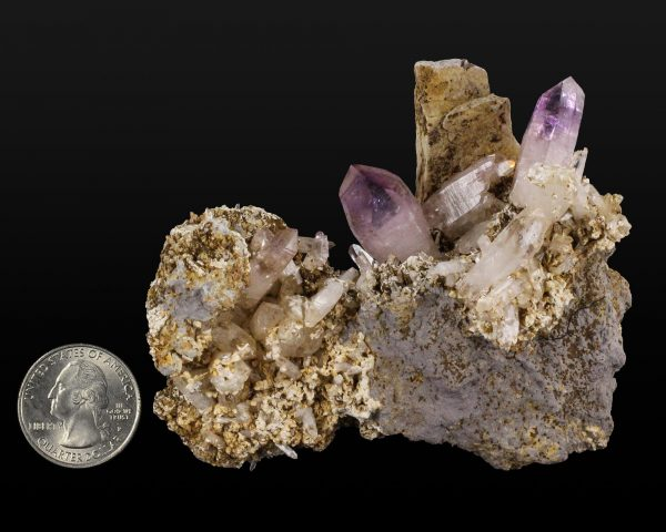 Amethyst with Laumontite