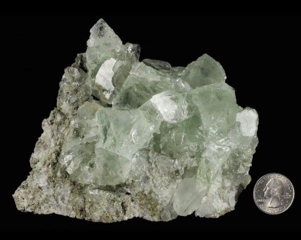 Fluorite, Green on Matrix
