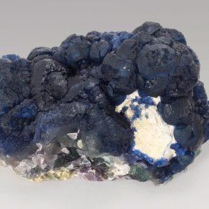 Fluorite, Blue on Quartz