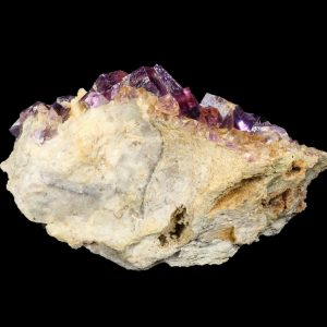 Fluorite, Purple on Limestone