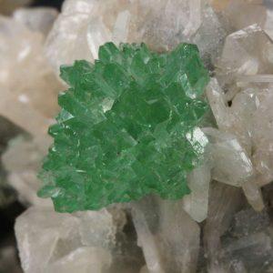 Apophyllite, Green with Stilbite