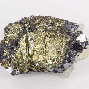 Galena with Calcite, Pyrite
