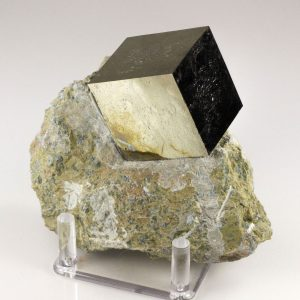 Pyrite Cube on Matrix