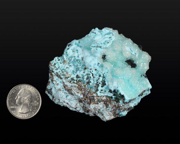 Chrysocolla, Malachite with Quartz druzy